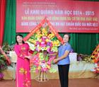 Lãnh đạo công ty Hoàng Sơn dự lễ khai giảng tại trường mầm non Tân Thịnh B.