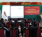 Cán bộ nhân viên Trung tâm Hoàng Sơn Plaza tham dự lớp bồi dưỡng nâng cao kiến thức về hội nhập kinh tế Quốc tế.