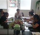 Đoàn công tác Công ty Hoàng Sơn kiểm tra tiến độ thực hiện chế tạo thiết bị động cơ điện thuộc dự án Thủy điện Đồng Chum 2 tại Trung Quốc.