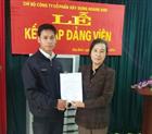 Chi bộ Công ty Cổ phần Xây dựng Hoàng Sơn tổ chức kết nạp Đảng viên mới cho tổ Đảng Nhà máy thủy điện Suối Nhạp A.