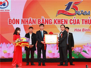 Công ty Hoàng Sơn kỷ niệm 15 năm thành lập và đón nhận Bằng khen Thủ tướng Chính phủ.
