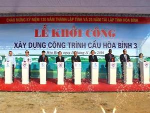 Lễ khởi công xây dựng công trình cầu Hòa Bình 3