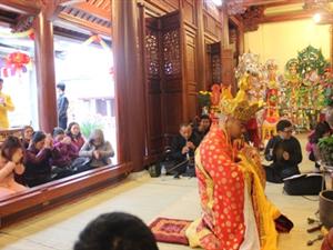 Công ty Hoàng Sơn tổ chức Lễ hô thần nhập tượng dự án bảo tồn tôn tạo dự án Đền Thác Bờ.