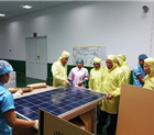 Thăm quan Công ty chế tạo CANADIAN SOLAR VIỆT NAM tại Hải Phòng.