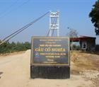 Bàn giao đưa vào sử dụng cầu treo Cố Nghĩa tại Huyện Lạc Thủy - Tỉnh Hòa Bình.