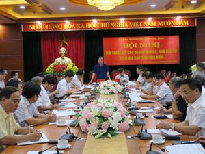Hội nghị đối thoại với các doanh nghiệp trên địa bàn tỉnh Hòa Bình.