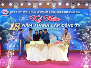 Kỷ niệm 18 năm thành lập Công ty CP Hoàng Sơn (19/3/2001-19/3/2019)