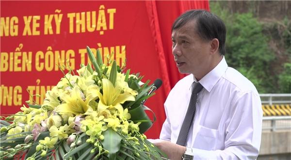 Đồng chí Bùi Văn Khánh phát biểu tại buổi lễ